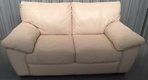 VRETA Two Seater Ivory Couch West Footscray Maribyrnong Area Preview