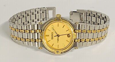 Gucci Two Tone Ladies Vintage Watch