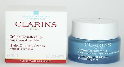 Clarins HydraQuench Cream Normal to Dry Skin 1.7 oz /50ml New In Box
