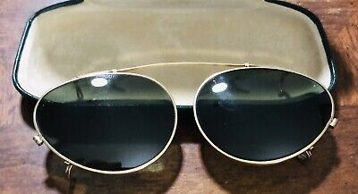 "Vintage Bausch & Lomb Ray Ban clip on sunglasses ""B+L 52"
