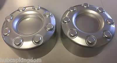 2 NEW 2005-2016 Ford F-350 F350 Dually Wheel Silver Center Caps Rear PAIR