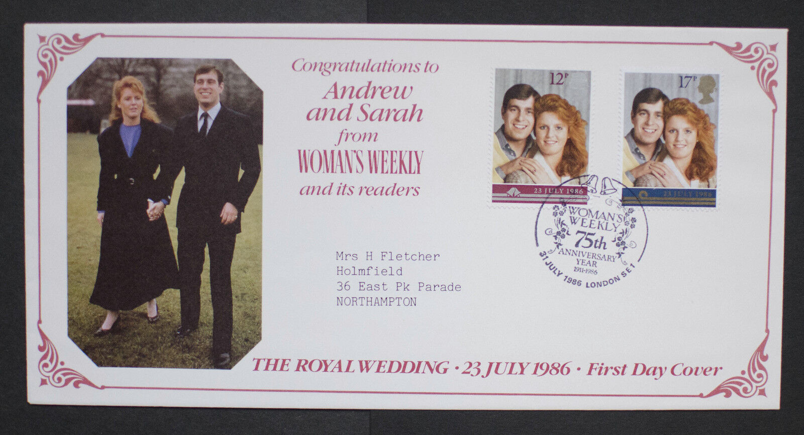 GB 1986 Royal Wedding set on Womans Weekly Commemorative Cover