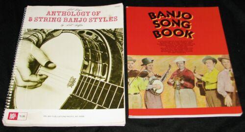 Anthology of 5 String Banjo Styles, Griffin + Banjo Song Book, Trischka