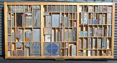 - Letterpress Art Wall Hanging Vintage Type Drawer Whittier CA USA Printing Dies#3