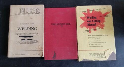 Lot of 3 Welding Books TM 9-2852 War Department - Forney Arc - Linde - Manuals