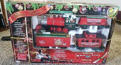 Santa Express Christmas Train Railroad Set EZTEC w/Orig Box G Scale Plays Music