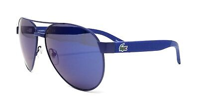 LACOSTE Sunglasses L185S 424 Blue Matte Aviator (Blue Tinted Aviators)