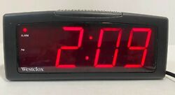 Westclox Digital Battery Backup LED Snooze Black Alarm Clock Model : 22705