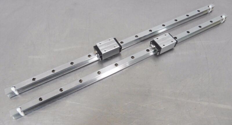 C120350 Lot 2 CPC Linear Slide Rails (23mm wide x 830mm long) w/2 Bearing Blocks