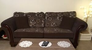 Brown Couch and Love Seat for sale