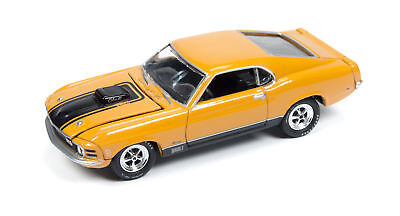 1/64 JOHNNY LIGHTNING MUSCLE SERIES 1 1970 Mustang Mach 1 in Orange and Black