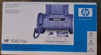New Hp 1040 Inkjet Fax Machine With Built-in Telephonescan Print