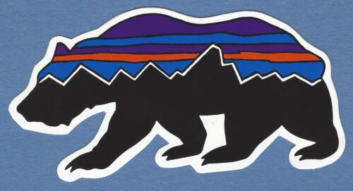 NEW PATAGONIA AUTHENTIC BEAR STICKER DECAL MOUNTAINS OUTDOOR