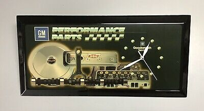 VINTAGE CHEVY GMC GM PERFORMANCE PARTS GOODWRENCH SERVICE WOOD CLOCK SIGN