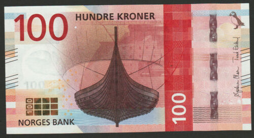 Norway 100 Kroner 2016 UNC NEW Ship