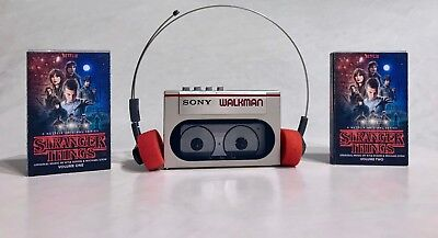 Sony WM-10 WM-20 Super Walkman Cassette Tape Player Silver/Red -Serviced, Extras