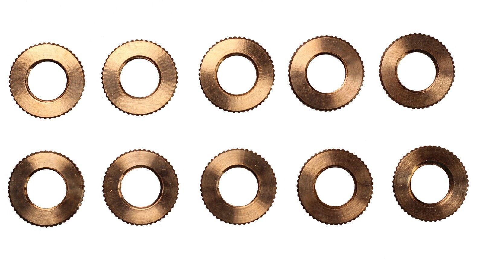 Brass Knurled Locknut, Fits 1/8IP Standard Lamp Pipe, DIY Repair – 10 Pcs Collectibles