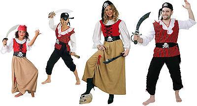 Kostüm Piratenfamilie Fasching Karneval Damen Herren Kinder Pirat der - Piraten Der Karibik Kostüm Damen