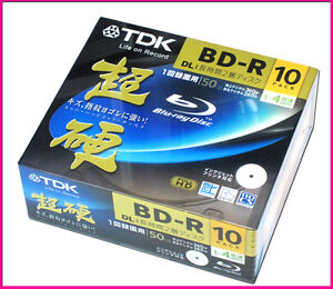 10-TDK-3D-Bluray-High-Grade-Discs-50GB-BD-R-DL-Inkjet-Printable-Blu-ray-Repacked