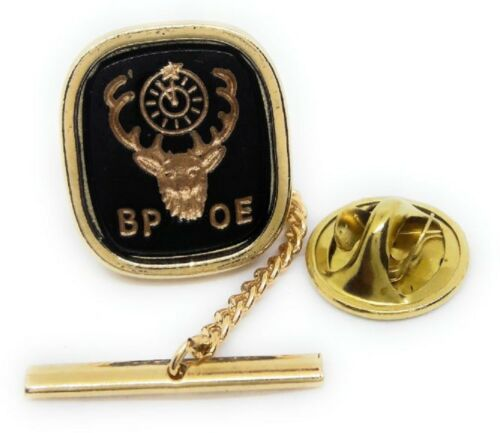 ELKS CLUB TIE TACK / LAPEL PIN GOLD