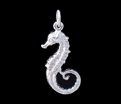 Seahorse charm Sterling silver 925 charmmakers 3D