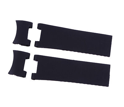 Black Silicone Rubber Diver Watch Strap Band For ULYSSE NARDIN MARINE   (Marine Silicone Rubber)