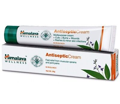 Himalaya Herbal Antiseptic Cream Cuts Burns Wounds Rashes Skin Infections 20g