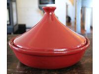 Emile Henry Tagine Rouge 32cm plus Moroccan cookbook
