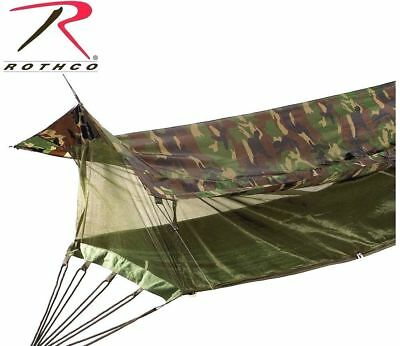 Sheltered Hammock With Bug Netting Color: Woodland Camo
