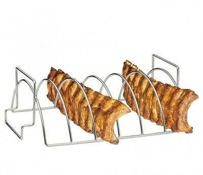 Küchenprofi BBQ-Spare-Ribs und Braten-Rack Halter Zubehör Smoker Grill Ständer