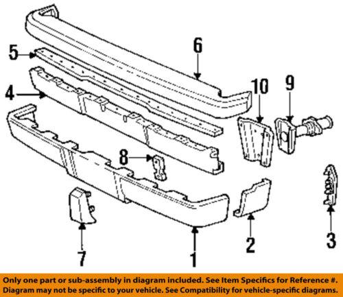CHRYSLER OEM 88-91 New Yorker Rear Bumper-Scuff Guard Right 4334940