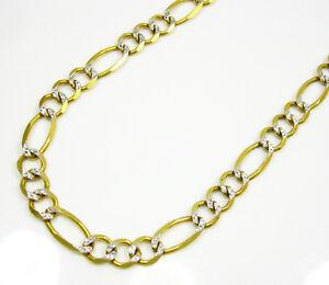 "26"" 6mm 18 Grams 10k Yellow Gold Diamond Cut Cuban Figaro ..."