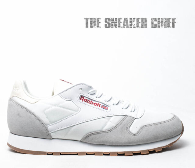 e6932ad045ff ... eBay REEBOK CLASSIC LEATHER AG MENS CASUAL SHOES WHITE SKULL GREY  BD5408 ...