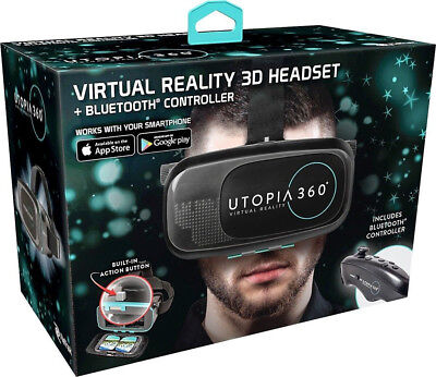 ReTrak Utopia 360° Virtual Reality Headset with Bluetooth Controller