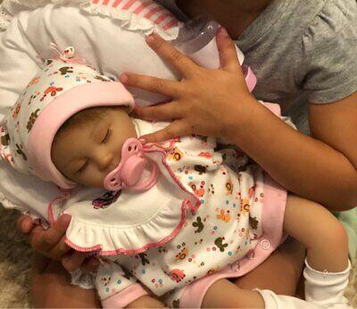 Soft Silicone Reborn Baby Dolls Vinyl Newborn Girl Handmade Baby Xmas Doll Gift