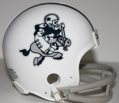 Dallas Cowboys Logo Throwback Riddell 2 Bar Mini Helmet