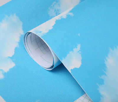 New 3D Blue sky and white cloud ceiling Wallpaper Self-adhesive  Home Decor - Blue Sky Decor