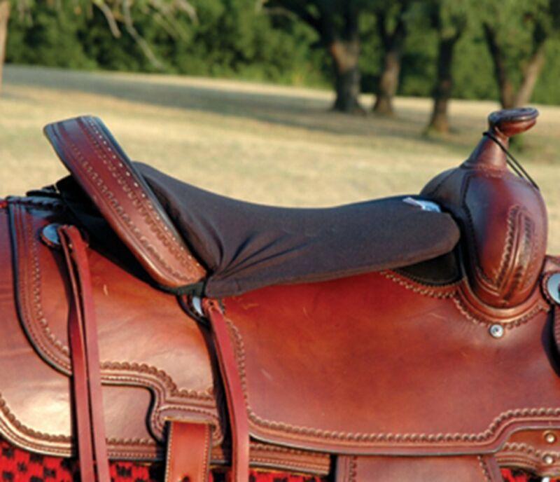 "Cashel Western Long Tush Cushion - Size: 3/4"" Foam Color: Black"