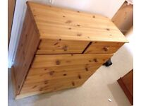 chest of drawer in pine wood
