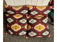 4 x IKEA Fransine 50cm x 50cm Down Filled Cushions