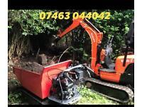 Micro digger & dumper hire