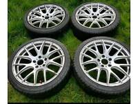 5x114.3 JAP FITMENT ALLOYS AND TYRES WITH TREAD