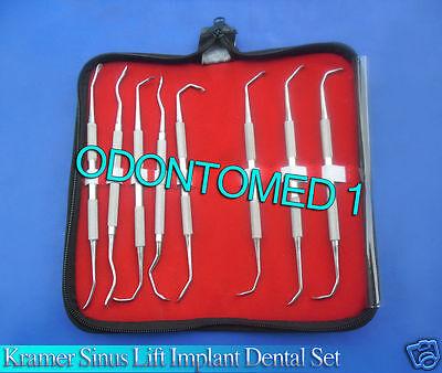 Set Of 8 Dental Implant Sinus Lift Instruments Kit