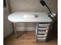 Therapy bed, Nail table and stools for sale!