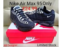 Nike Air Max 95 110 110s brand new boxed up clearance black white all sizes not adidas