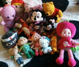 mix of teddies and characters