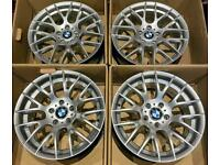 BMW 3 series M Sport 18 inch Alloy Wheels 5 x 120 Staggered Style 359 Rep E90 E87 1 series 2 Z3 Z4