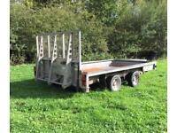 Ifor Williams 12' plant trailer Ramp transporter digger tractor flatbed