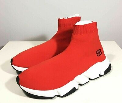 Brand-new Men's Balenciaga Red Speed Trainers Sneakers in US 11/Euro 44