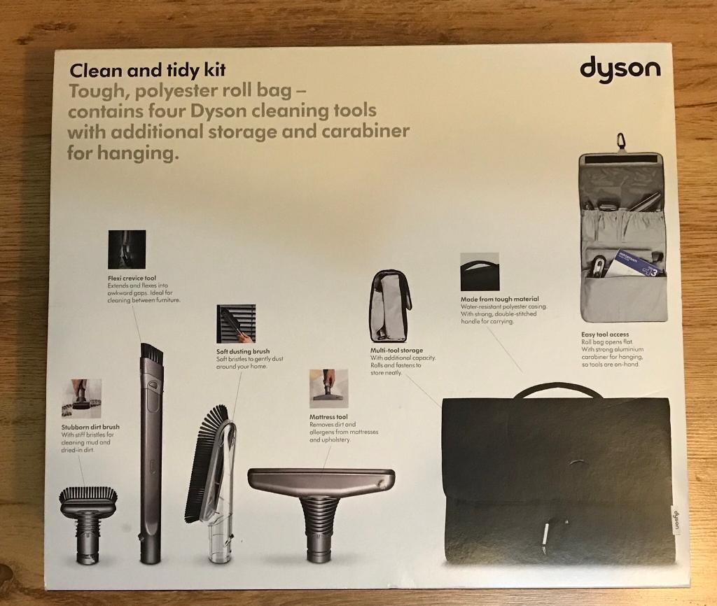 Genuine Original Dyson Clean and Tidy Kit and Multi-tool Storage Bag 4-Piece Vacuum Cleaner Tools